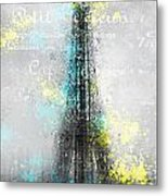 City-art Paris Eiffel Tower Letters Metal Print by Melanie Viola