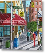 City Corner Metal Print by Katherine Young-Beck