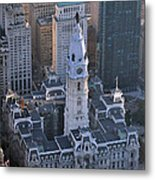 City Hall Broad St And Market St Philadelphia Pennsylvania 19107 Metal Print by Duncan Pearson