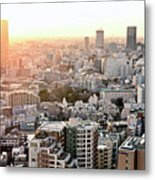 Cityscape Of Tokyo Metal Print by Keiko Iwabuchi