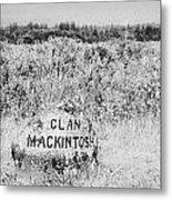clan mackintosh memorial stone on Culloden moor battlefield site highlands scotland Metal Print by Joe Fox