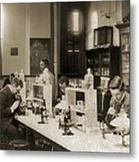 Class In Bacteriology At Howard Metal Print by Everett