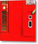 Classic Coke Dispenser Machine . Type 2 . Long Cut Metal Print by Wingsdomain Art and Photography