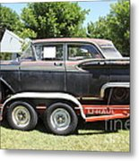 Classic Rusty Old 1959 Ford Galaxie 500 . 5d16308 Metal Print by Wingsdomain Art and Photography