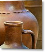 Clay Pottery Metal Print by Carlos Caetano
