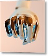 Clenched Fist, Computer Artwork Metal Print by Christian Darkin