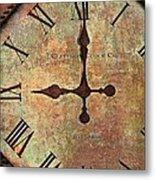 Clevedon Clock Metal Print by Robert Smith