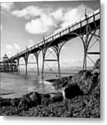 Clevedon Pier Metal Print by Photographer Nick Measures