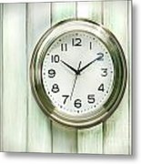 Clock On The Wall Metal Print by Sandra Cunningham