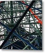 Close-up Of Ferris Wheel Mechanism Metal Print by Todd Gipstein