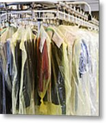 Clothing At Dry Cleaners Metal Print by Andersen Ross