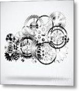 Cloud Made By Gears Wheels  Metal Print by Setsiri Silapasuwanchai