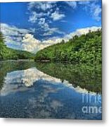 Clouds In The Lake Metal Print by Adam Jewell