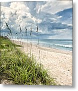 Clouds Over The Ocean Metal Print by Cheryl Davis