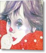 Clown Baby Metal Print by Unique Consignment