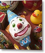 Clown Rattle And Old Toys Metal Print by Garry Gay