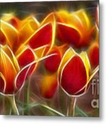 Cluisiana Tulips Fractal Metal Print by Peter Piatt