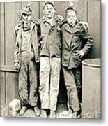 Coal Breaker Boys 1900 Metal Print by Padre Art