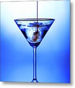 Cocktail Being Poured Metal Print by Jane Rix