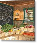 Colby Farm Stand Produce Metal Print by Kristine Patti