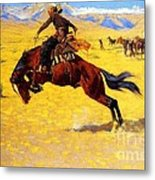 Cold Morning On The Range Metal Print by Pg Reproductions