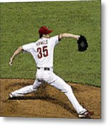 Cole Hamels Metal Print by Gerry Mann