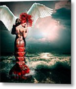 Collision I Metal Print by Courtney Chaney