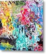 Color Splash Metal Print by Katina Cote