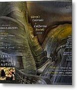 Colorado-california Art Book Cover2 Metal Print by Glenn Bautista