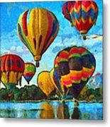 Colorado Springs Hot Air Balloons Metal Print by Nikki Marie Smith