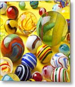 Colorful Marbles Metal Print by Garry Gay