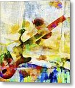 Colorful Music Metal Print by David Ridley