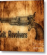 Colt Revolvers Metal Print by Cheryl Young
