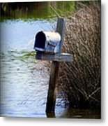 Come Rain Or Shine Or Boat Metal Print by Karen Wiles