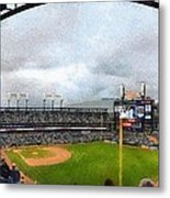Comerica Park Home Of The Detroit Tigers Metal Print by Michelle Calkins