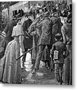 Commuter Rush Hour, 1890 Metal Print by Granger