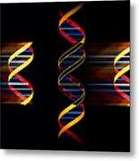 Computer Artwork Of Genetic Engineering Metal Print by Laguna Design