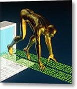 Computer Artwork Of The Internet As A Sprinter Metal Print by Laguna Design