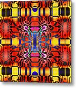 Computer Artwork Representing A Circuit Board Metal Print by Mehau Kulyk
