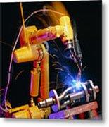 Computer-controlled Arc-welding Robot Metal Print by David Parker, 600 Group Fanuc