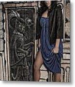 Concrete Velvet 5a Metal Print by Donna Blackhall