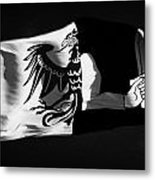 Connacht Provincial Flag Flying In Republic Of Ireland Metal Print by Joe Fox