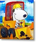 Construction Dogs Metal Print by Scott Nelson