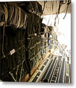 Container Delivery System Bundles Drop Metal Print by Stocktrek Images