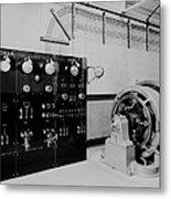 Control Panel And Dynamo Generator Metal Print by Everett