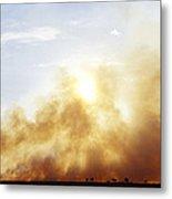 Controlled Burn Masai Mara Game Reserve Metal Print by Jeremy Woodhouse