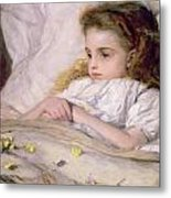 Convalescent Metal Print by Frank Holl