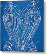 Corset Patent Series 1905 French Metal Print by Nikki Marie Smith