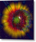 Cosmic Light Metal Print by Linda Sannuti