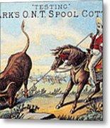 Cotton Thread Trade Card Metal Print by Granger